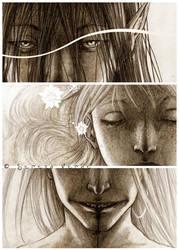 The Three Monkeys by SerenaVerdeArt