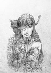 Portrait Commission: Lily by SerenaVerdeArt