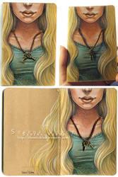 Key Charm Moleskine by SerenaVerdeArt