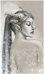 Black Dragoness by SerenaVerdeArt