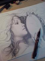 Cinera - Looking Glass by SerenaVerdeArt