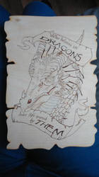 Dragon Plaque Pyrography by HimmeltheBlue