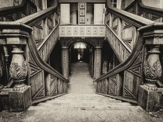 Staircase to the depths of somewhere by Dellboyy