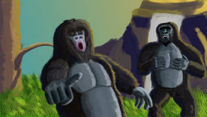 Gorilla Mockery by Macho-King