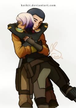 Ezra and Sabine by Koikii