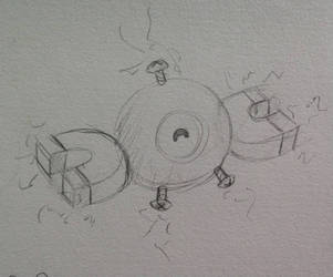 Magnemite Sketch by ArtGnat