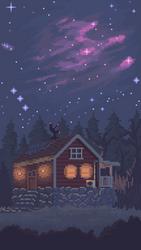 The night sky by 5ldo0on