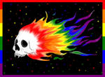 Flaming pride skull by Little-Horrorz