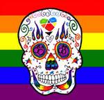 Gay Pride sugar skull by Little-Horrorz