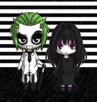 Beetlejuice and Lyds by Little-Horrorz