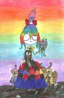 Umbrella girl-Like family by Little-Horrorz