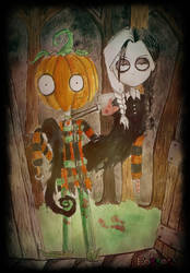 Trick or Treat PB and Eleanor by Little-Horrorz