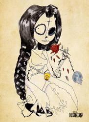 Santa Muerte by Little-Horrorz
