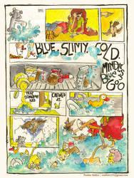 Mindless Blue Goo by crabbits