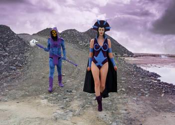 Skeletor . Evil Lyn - Masters Of The Universe by OrangeSwine