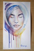 watercolors portrait by OrangeSwine