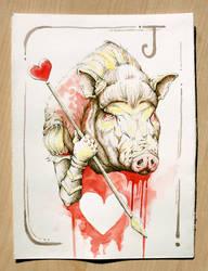 Pig - Cuori by OrangeSwine