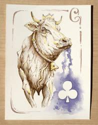 Cow - Fiori by OrangeSwine