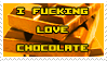 I Fucking Love Chocolate Stamp by Stollrofl