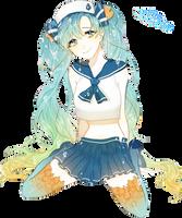 Hatsune Miku - Render #133 by StarrySkyTrench