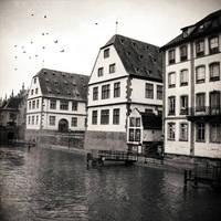 Rainy Day on The Bridge by DarkCrissus
