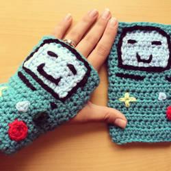 Crochet BMO Wrist Warmers by TheGeekyCrafter