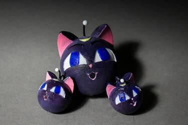 Luna/Artemis/Diana Sphere Pendant/Earrings by sorhainSlave
