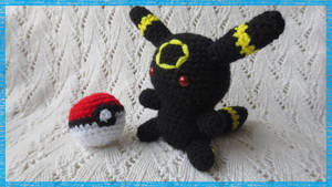 Amigurumi Chibi Umbreon Plush by CraftyEmily