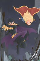 Batgirl and Supergirl (WIP) by redgenotiva