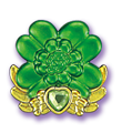 Green clover cure decor by Kirakiradolls