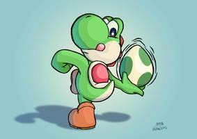 Yoshi learnt to throw eggs by SIMGart
