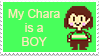Undertale Headcanon Stamp: Boy Chara by FluffyKyubey42