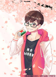 Cherry blossoms by leftshoelace