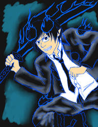 Blue Exorcist Rin attempt-old by La-Anime