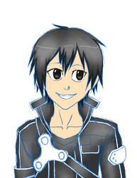 Kirito Attempt haha by La-Anime
