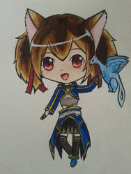 Silica Chibi- Sword Art Online II by cacoxima