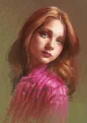 Girl Digital Portrait by DavidGalopim