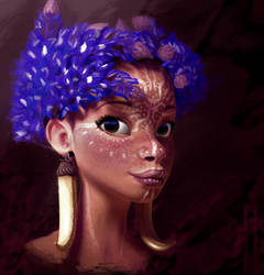African tribe woman by goblinight
