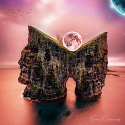 Resting Moon by vmaharaj