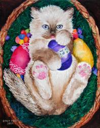 Easter Kitten by raggyann321