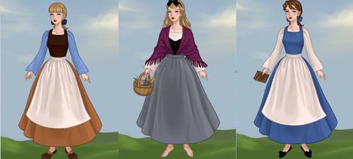 The French Disney Princesses by singertobe