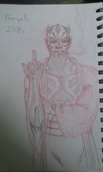 Maul, first sketch by Scringeheart505