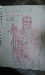 Maul, second sketch by Scringeheart505