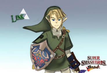 Link Super Smash Bros Brawl Fanart by StrawberryChocolate1