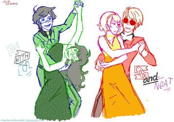Dancing Buddies by StrawberryChocolate1