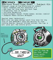 Aperture Prototype - Nerd Core by pirate-kit