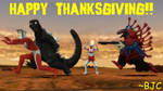 [MMD] Kaiju Thanksgiving 2018 by BigJohnnyCool