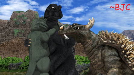 [MMD] Kaiju Family and Friends by BigJohnnyCool