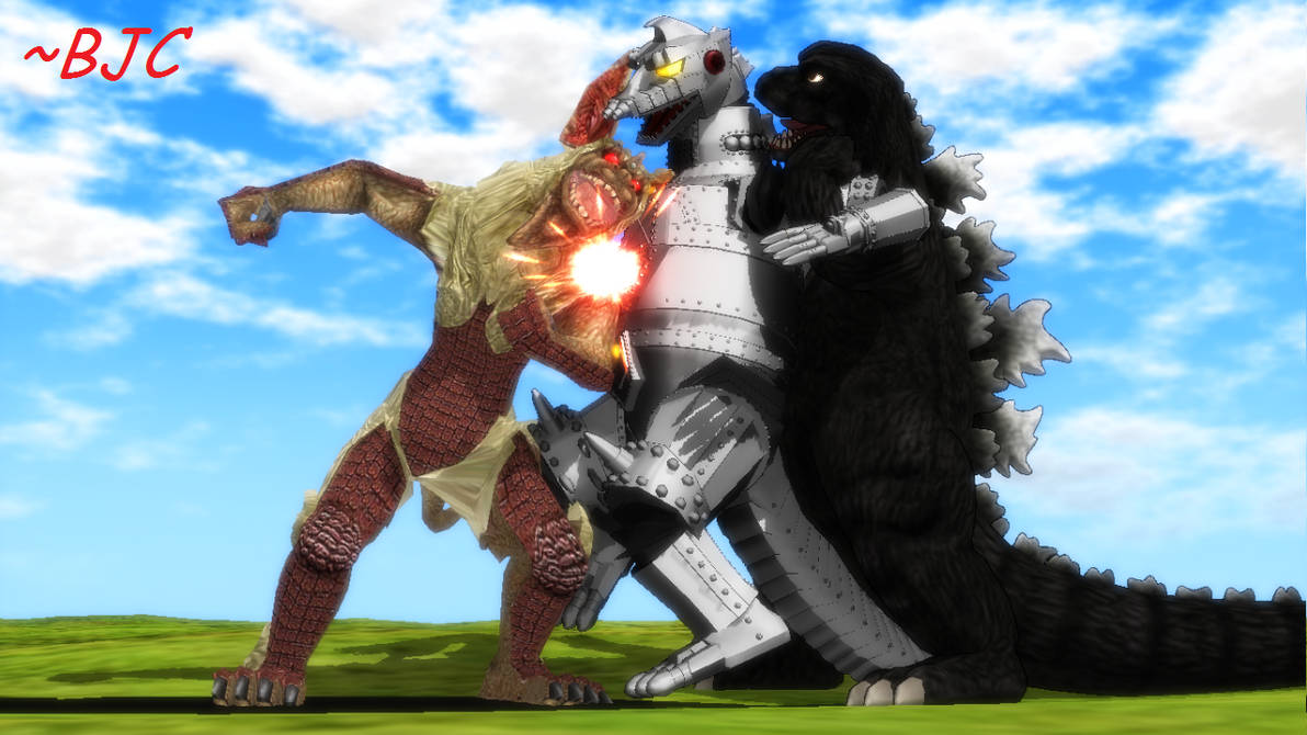 [MMD] Godzilla vs. Mechagodzilla re-cap by BigJohnnyCool