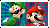 Mario and luigi Stamp by JRDN762